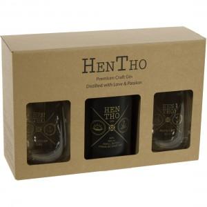 Hentho Gin The Noah Geschenk  50 cl  1fles + 2glazen