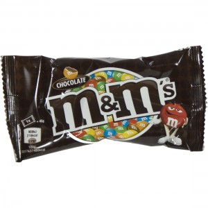 M&M's choco zakje single  45 gr