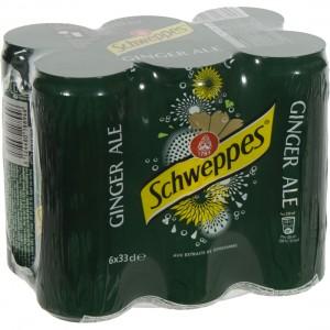 Schweppes Ginger Ale BLIK  33 cl  Blik  6 pak