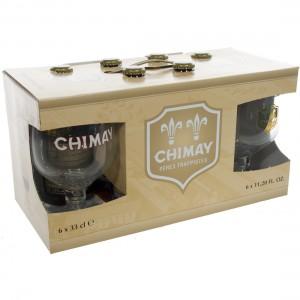 Chimay Doree Geschenk  33 cl  6fles + 2 glas
