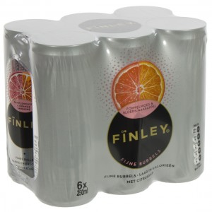 Finley BLIK  Orange Grape  25 cl  Blik  6 pak