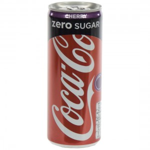 Coca Cola  Zero Cherry  25 cl  Blik