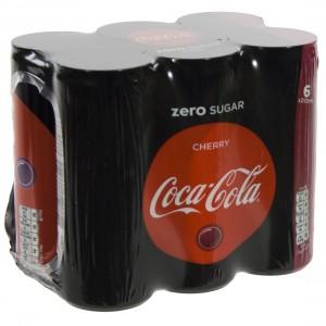 Coca Cola  Zero Cherry  25 cl  Blik  6 pak