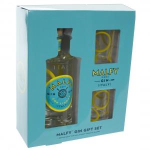 Malfy Italian Gin 41° Geschenk  70 cl  1fles + 2glazen