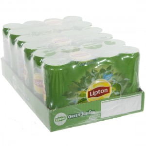 Lipton BLIK  Green Red. Sugar  33 cl  Blik 24 pak