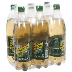 Schweppes Ginger Ale PET  1 liter  Pak  6 st