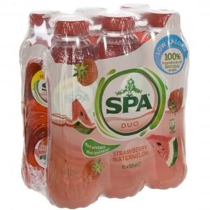 Spa Duo Pet  Strawberry - Watermelon  50 cl  Pak  6 st