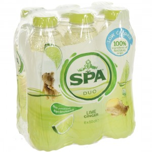 Spa Duo Pet  Lime - Ginger  50 cl  Pak  6 st