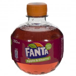 Fanta  PET  Apple & Cherry  25 cl   Fles