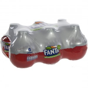 Fanta  PET  Strawberry & kiwi  25 cl  Pak  6 st