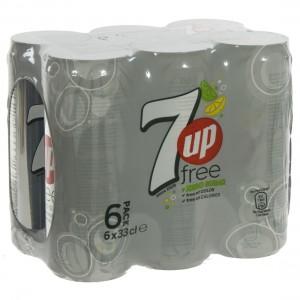 7 up  Zero  33 cl  Blik  6 pak
