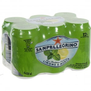 San Pellegrino Limone & Menta  33 cl  Blik  6 pak