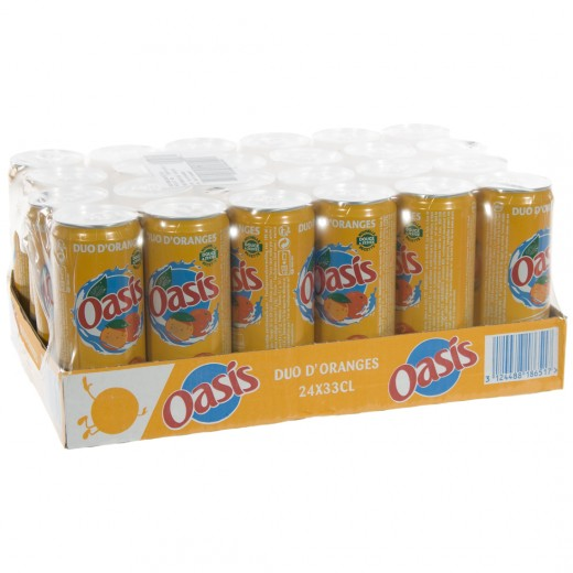 Oasis BLIK  Orange  33 cl  Blik 24 pak