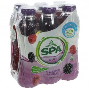Spa Duo Pet  Blackberry & Raspberry  50 cl  Pak  6 st