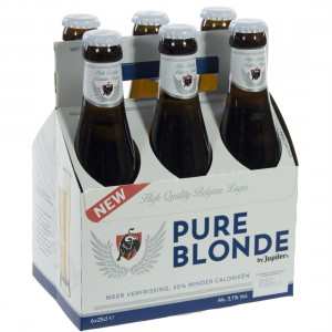 Jupiler Pure Blonde  25 cl  Clip 6 fl