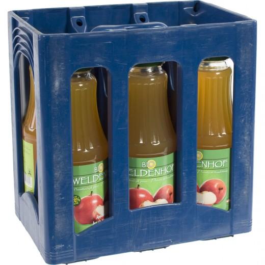 Weldenhof BIO fruitsap  Appel  1 liter  Bak  6 fl