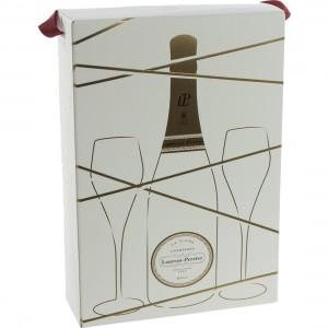 Laurent Perrier + 2 glazen  Brut  75 cl