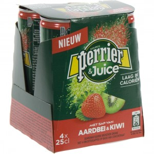 Perrier Limonade BLIK  Strawberry & kiwi  25 cl  Blik 4 pak