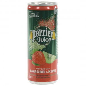 Perrier Limonade BLIK  Strawberry & kiwi  25 cl  Blik