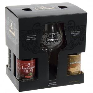 Lindemans Geschenkverpakking  25 cl  4fles+ 1glas