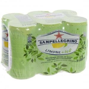 San Pellegrino Limone + Tea  33 cl  Blik  6 pak