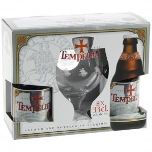 Tempelier Geschenk  33 cl  2fles+ 1glas