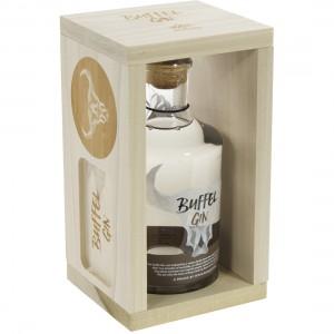 Buffel gin Woodenbox 2 apperitiefplankjes  70 cl