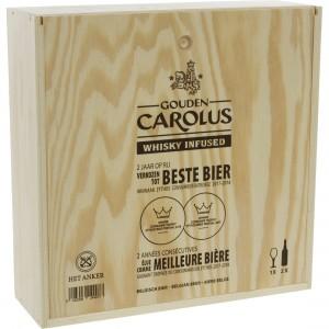 Gouden Carolus Whisky Infused Kist  75 cl  2fles+ 1glas