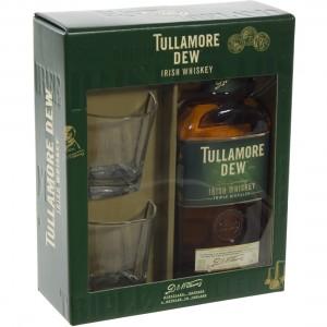 Tullamore Dew 40% geschenkverpakking  70 cl  1fles + 2glazen